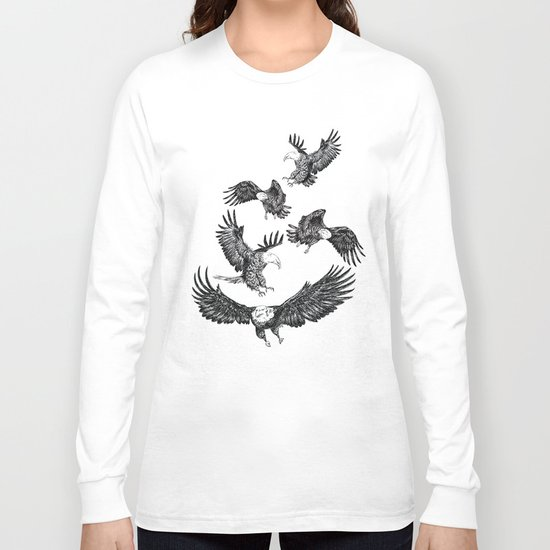 Eagles Pattern Long Sleeve T-shirt