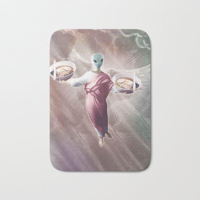 Ramen Alien Jesus Bath Mat