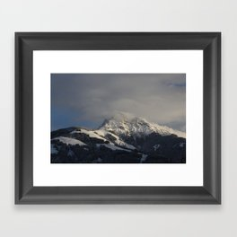 Winter in the Mountains Framed Art Print