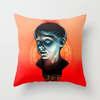 ouat Throw Pillows featuring Henry - OUAT by Seventy-three