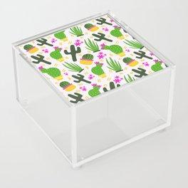 Cactus Pattern of Succulents Acrylic Box