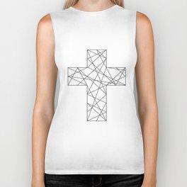 Geometrical cross // Tara Biker Tank