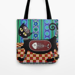 Retro Kitty Tote Bag