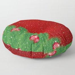 Christmas background Floor Pillow