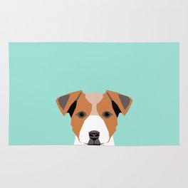 Bailey - Jack Russell Terrier phone case art print gift for dog people Jack Russell Terrier owners Rug