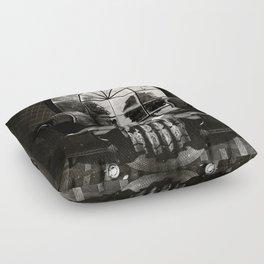 Room Skull B&W Floor Pillow