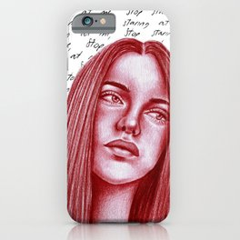 Stop staring at me iPhone Case