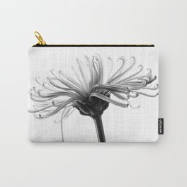 Spider Mum Black and White Carry-All Pouch