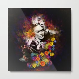 The colors of Frida Metal Print