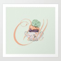 chill Art Prints featuring Chill by brocoli art print