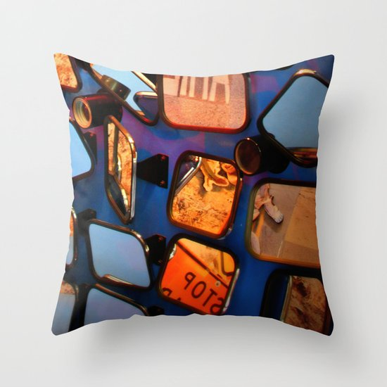 colorful fragments of life Throw Pillow