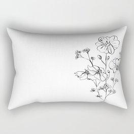 Wild Roses Bouquet Rectangular Pillow