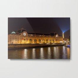 Musee d'Orsay in Paris at night Metal Print