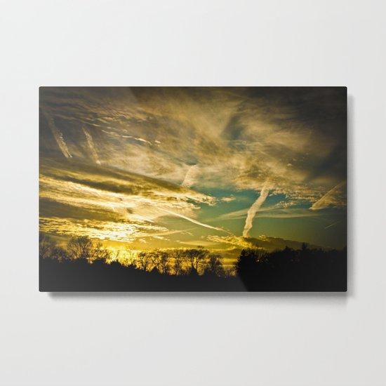 Sundown Sky Planes  Metal Print