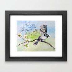 His eye is on the sparrow Framed Art Print