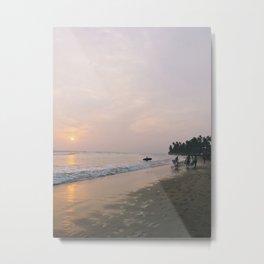 Sunset Surf on Kabalana Beach, Ahangama, Sri Lanka 2 Metal Print