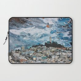 Starry Coit Tower Laptop Sleeve
