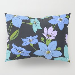 Forget -Me-Not flowers pattern Pillow Sham