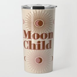 Vintage Moon Child Travel Mug
