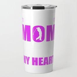 Golf Moms Full Heart Mothers Day T-Shirt Travel Mug