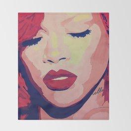 Rihanna Painting Throw Blanket