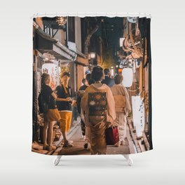 In Awe of Geishas Shower Curtain