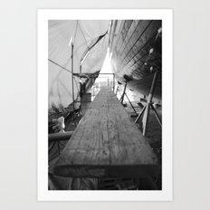 Shipyard Boat III Art Print