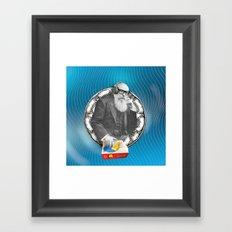 DJ Rick was determined to create beats no one had heard before. Framed Art Print