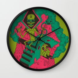 Charon And The River Styx Wall Clock