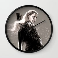 archer Wall Clocks featuring the archer by evankart
