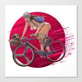 girl fixedbike Canvas Print