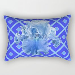Baby Blue German Iris Blue Pattern Rectangular Pillow