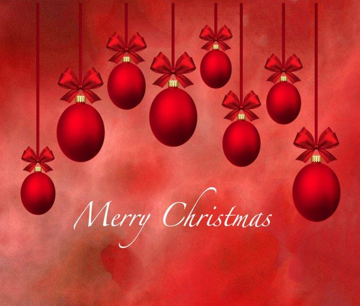 Merry Christmas Ornaments Bows and Ribbons - Red Metal Travel Mug
