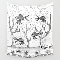 underwater Wall Tapestries featuring Underwater by Condor