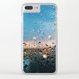 Evening Rainfall Clear iPhone Case