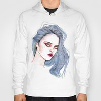 sky ferreira Hoodies featuring Sky Ferreira /  Blue  by Lucas David