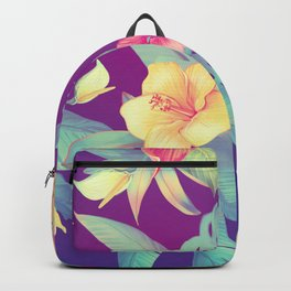 Tropical flowers Backpack