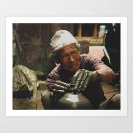 The Locals of Kathmandu City 002 Art Print