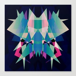 Symmetrical Graphic Sci Fi Looking Canvas Print
