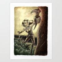 megan lara Art Prints featuring Lara by forzapedro