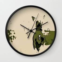 Chinese crested 3 Wall Clock