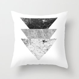Night marble triangles Throw Pillow