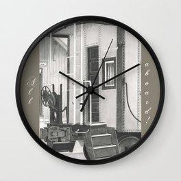 All aboard! Wall Clock