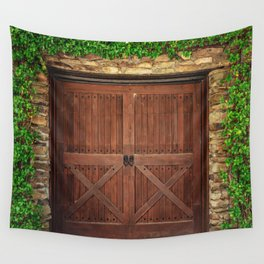Door and Ivy Backdrop Wall Tapestry
