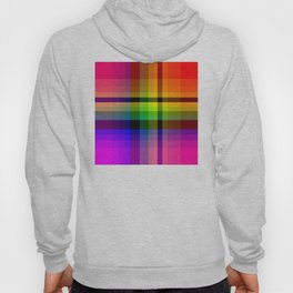 Color wheel plaid Hoody