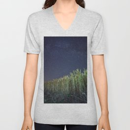 Wheat Field Planetarium Unisex V-Neck