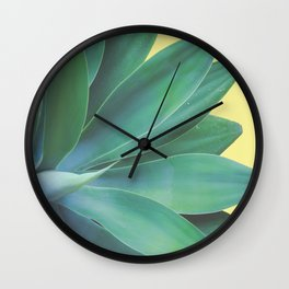 Agave Yellow Pop Wall Clock