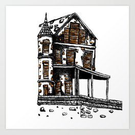 The Old Hiltop Home Art Print