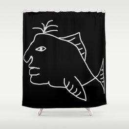 Fishman 2 Shower Curtain