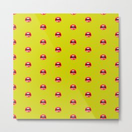 SEXY LIPS ((chartreuse)) Metal Print